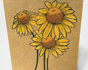 Sunflower Card | Blank Note Cards | Sunflower  Note Card | Stationery Gift | Set of 6 | Gift Under 10 | All Occasion Card | Packaged Cards