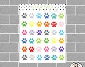 Paw Mini Icon Planner Stickers