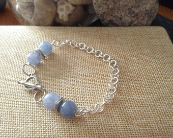 Aquamarine Toggle Bracelet