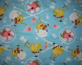 Sponge Bob Square Pants Bubble Fabric  62 inches by  16 inches 2005 Viacom International Inc.
