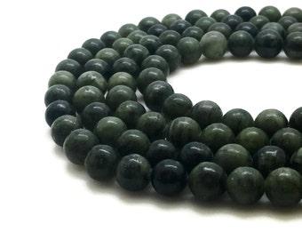 8mm Natural Taiwan Jade Beads Round 8mm Taiwan Jade 8mm Green Jade 8mm Green Stone 8mm Green Beads Green
