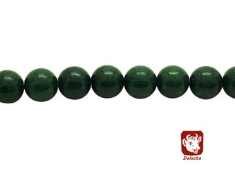 Round Green Mashan Jade Beads Strand 4∼10mm Green Candy Jade Green Mountain Jade Green Jade Green Mashan Stone Mashan