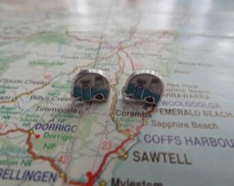 Small Caravan Earrings Studs