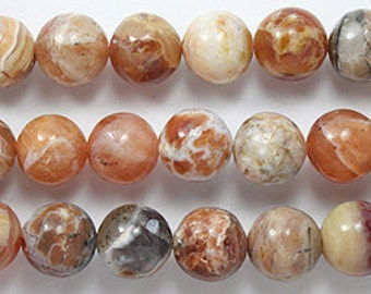 Brandy opal 10 mm rounds 8 inch strand
