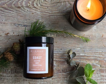 Select 3, NYC style Apothecary Jars, Soy Aromatherapy candles -  Essential oils Special set price