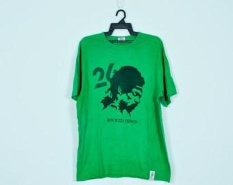 vintage band t shirt rocked down bob marley reggae ska rasta promo jamaica Extra Large