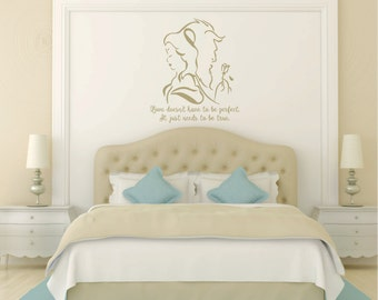Beauty and the Beast, Belle, 22 Wide x 31 Tall Vinyl Wall Decal