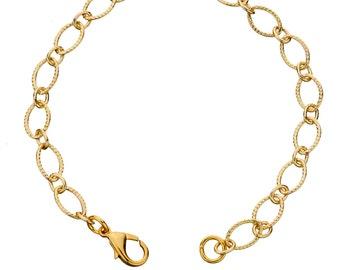 Elegant Gold Chain Bracelet, Charm Bracelet
