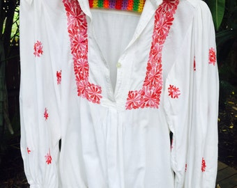Vintage 60's mexican blouse