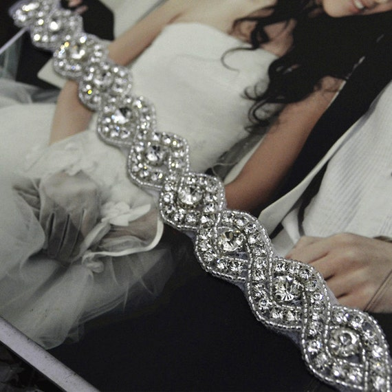 Diy wedding dress accessories bridal sash belt rhinestone sash for Wedding dress accessories belt