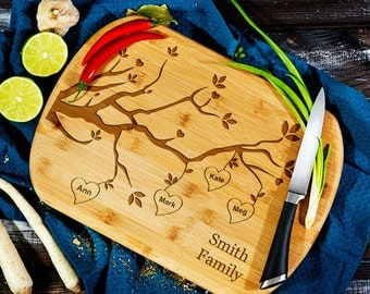 Family Tree - Personalized Cutting Board