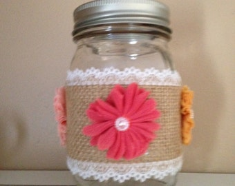 Spring Flower Mason Jar