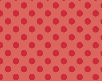 Sale By the Yard C430-80 RED Tone on Tone Medium Dot Riley Blake Designs 100% cotton