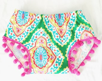 Patterned Pom Shorties