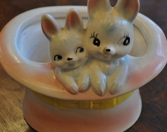 Bunnies Ceramic planter