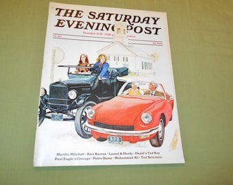 Fall 1971 Saturday Evening Post Cover - Cars by George Hughes - Cover Only