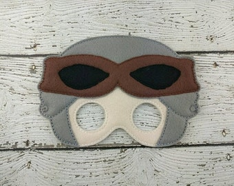 Galaxy Girl Warrior Children's Felt Mask  - Costume - Theater - Dress Up - Halloween - Face Mask - Pretend Play - Party Favor