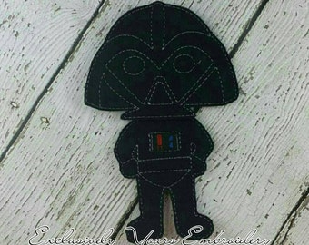 Vader Outfit for Felt Paper Doll - Party Favor - Pretend Play - Quiet Game - Travel Toy - Flat Doll - Felt Doll - Paper Doll - Dress Up Doll