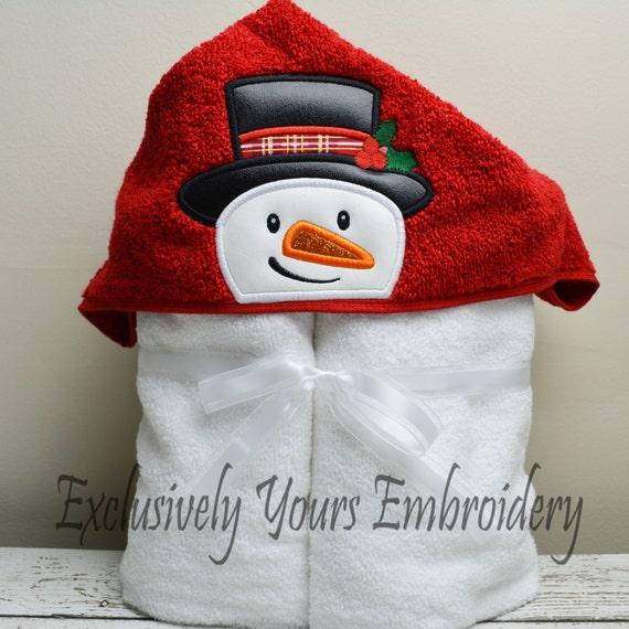 Snowman Children's Hooded Towel