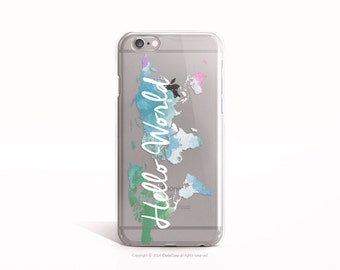 iPhone 6s case Clear iPhone 6 case Hello World Map iPhone SE case Clear iPhone 6 plus case Rubber iPhone 5 Case Clear iPhone 6S Plus Case 93