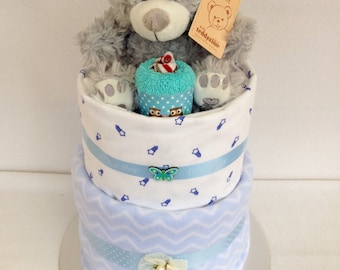 Baby boy nappy cake