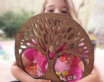 Tree of Life Wall Art -  Raw Wood Home Decor, Laser cut wood. wall decor,