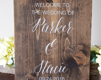 Welcome to our wedding sign, Welcome to Our Wedding Customizable sign,  Rustic Wedding Sign, Rustic Wedding Decoration, Wedding Decoration