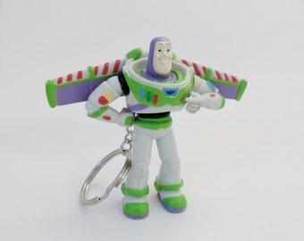 "BUZZ LIGHTYEAR 3"" Custom Keychain Keyring Key Holder"