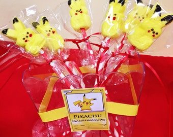 12 Pokemon Pikachu  Marshmallow Pops