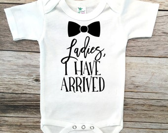 Baby Boy Clothes Ladies I have arrived bodysuit, Baby Boy Gift, Baby Boy Shower gift, Baby boy going home outfit, New baby gift, Baby boy