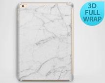 White Marble Case for iPad 2 3 4 Air 1 Mini Monogram Name