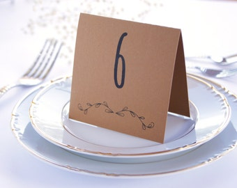Rustic Wedding Place Card, Wedding Table Numbers, Boho Table Decoration, Rustic Table Decor