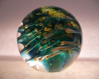 Hand Blown Glass Paperweight by Mark Wagar Glass