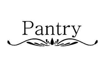 Pantry Vinyl Decal - Wall Decor - Kitchen Wall Decal - Door Decal - Pantry Door Decal - Kitchen Door Decal