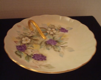 Vintage hand painted and signed plate