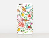 Vintage Inspired Floral Phone Case For - iPhone 6 Case - iPhone 5 Case - iPhone 4 Case - Samsung S4 Case - iPhone 5C - Tough Case - Matte