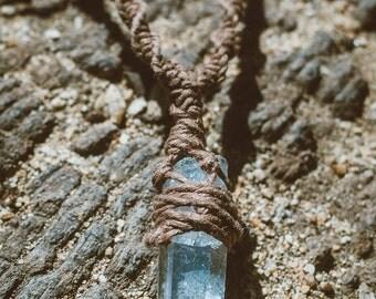 Quartz Macrame Hemp Necklace