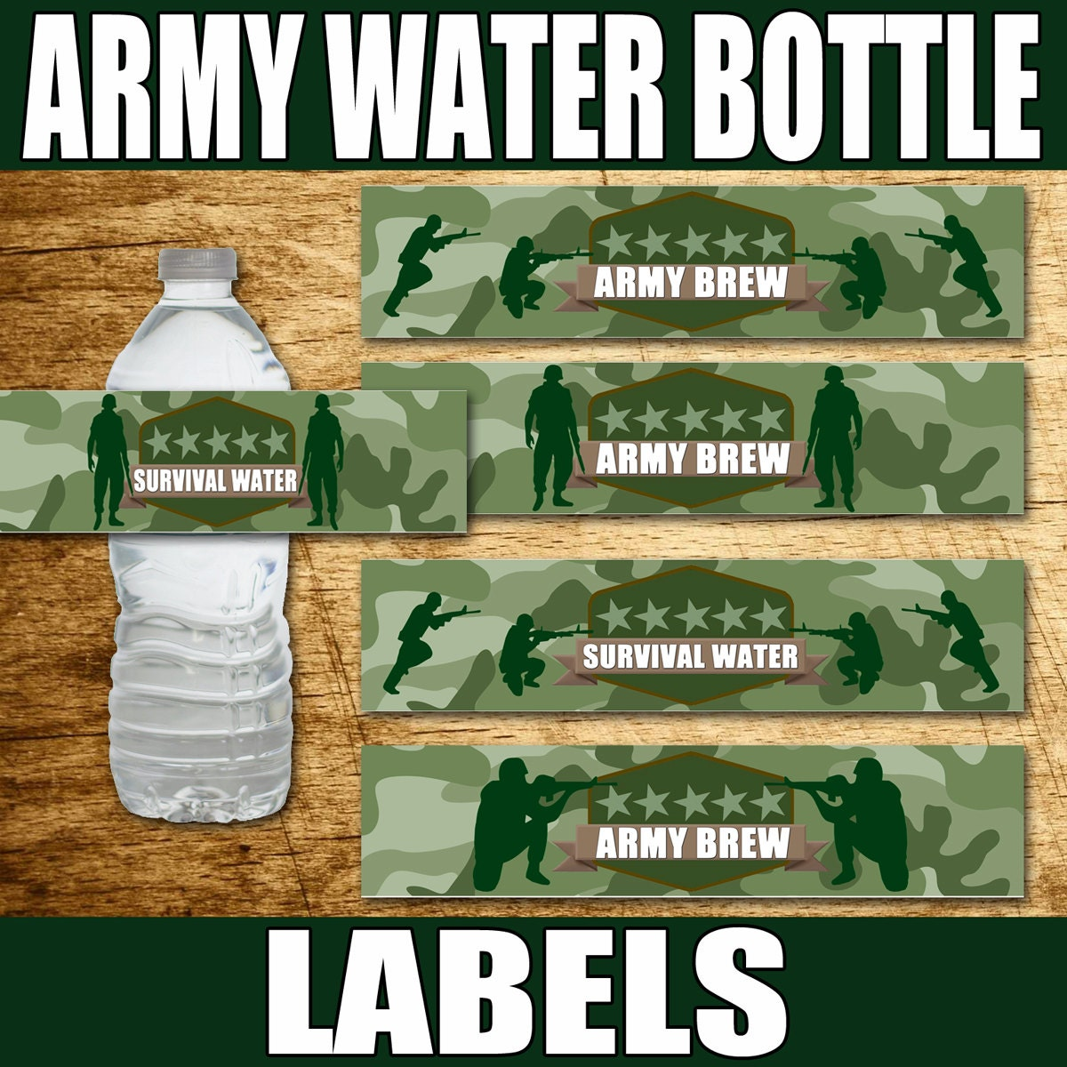 Army party army birthday army party supplies paintball for Army party decoration ideas