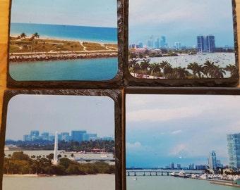 Slate Coasters - Miami Series 1