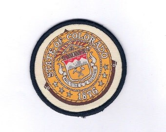 Vintage Great Seal of Colorado The Centennial State- Biker Patch