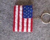 USA flag keychain; United States flag  Keychain; Felt keychain; Stocking stuffers; Christmas Gift.