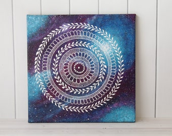 Galaxy Art - Galaxy Painting - Space Art - Space Painting - Nebula Painting - Nebula Art - Space Decor
