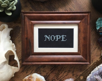 Nope Cross Stitch