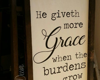 He giveth more grace sign- hymnal grace song lyics sign