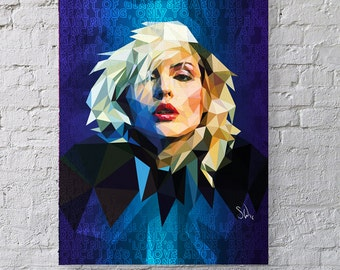 Heart of Glass fan art - Debbie Harry Giclee print - with or without lyrics