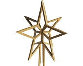 Christmas tree topper Gold star. Laser cut custom tree star. Order by the 19th and get it before Christmas!