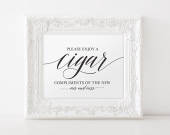 Cigar Bar Sign, Cigar Bar Printable, Wedding Sign, Wedding Ideas, Cigar Wedding Sign, Wedding Cigar Bar, PDF Instant Download #BPB310_79
