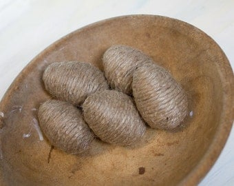 Twine wrapped Eggs - Set of 5