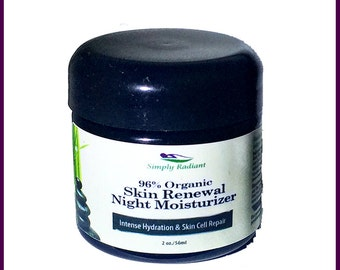 AntiAging Night Cream with Rosehip Oil, White Tea and Lavender - Natural Skin Care, Anti Aging  Face Cream that works while you sleep