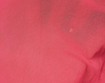 60 in w Hot pink 4 way stretch English mesh Fabric by the yard